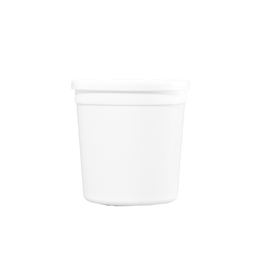 Illing Part 3387 And 3387l 15 Oz White Plastic Tub Lid Plastic Tubs Are Available In An Assortment Of Sizes Colors An Plastic Pail Metal Containers Tub