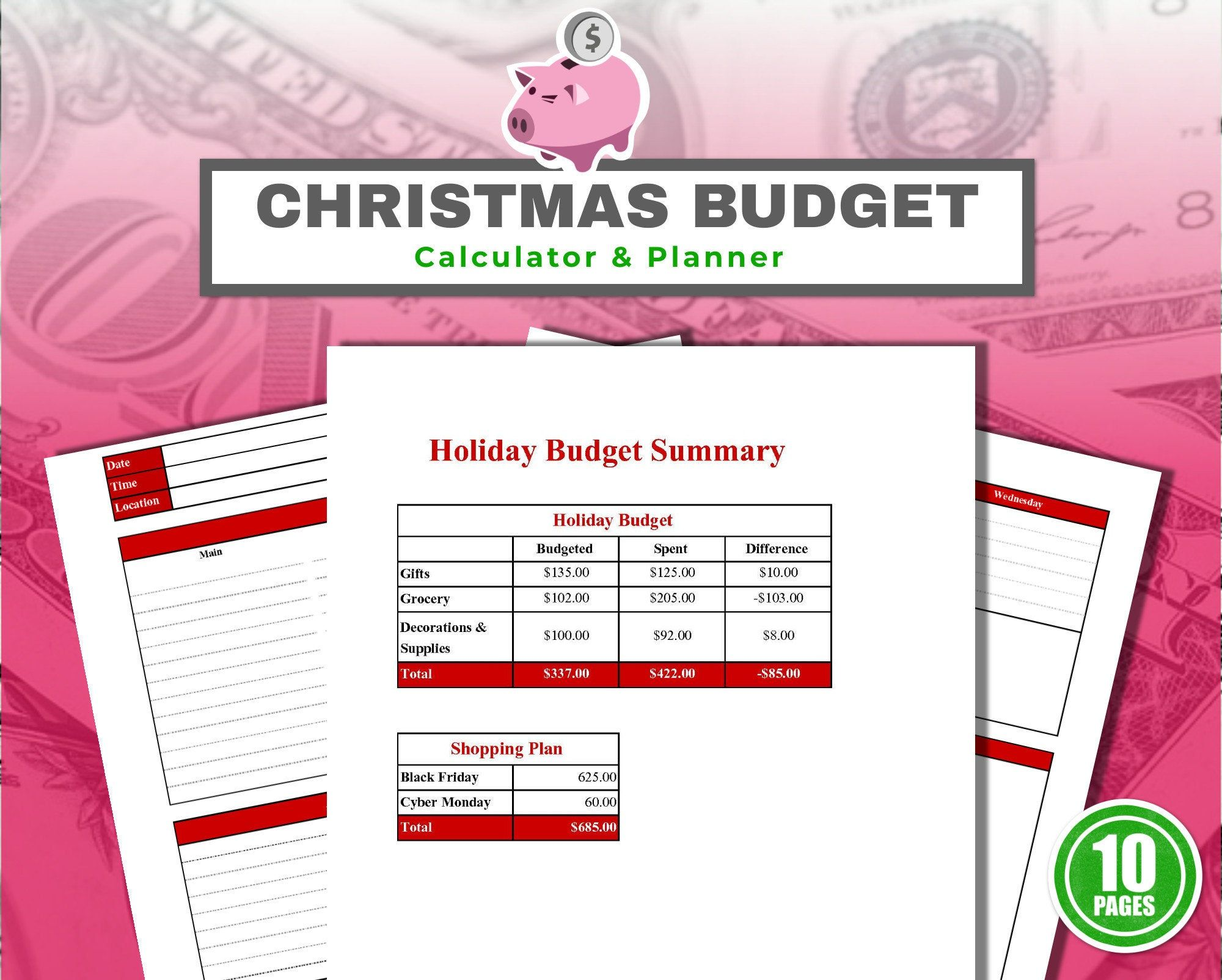 Christmas Budget Planner Printable With Calculator 10