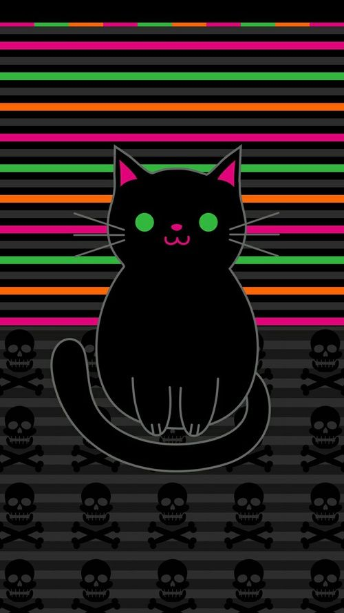 Pin By On Cat Wallpapers Halloween Wallpaper Iphone