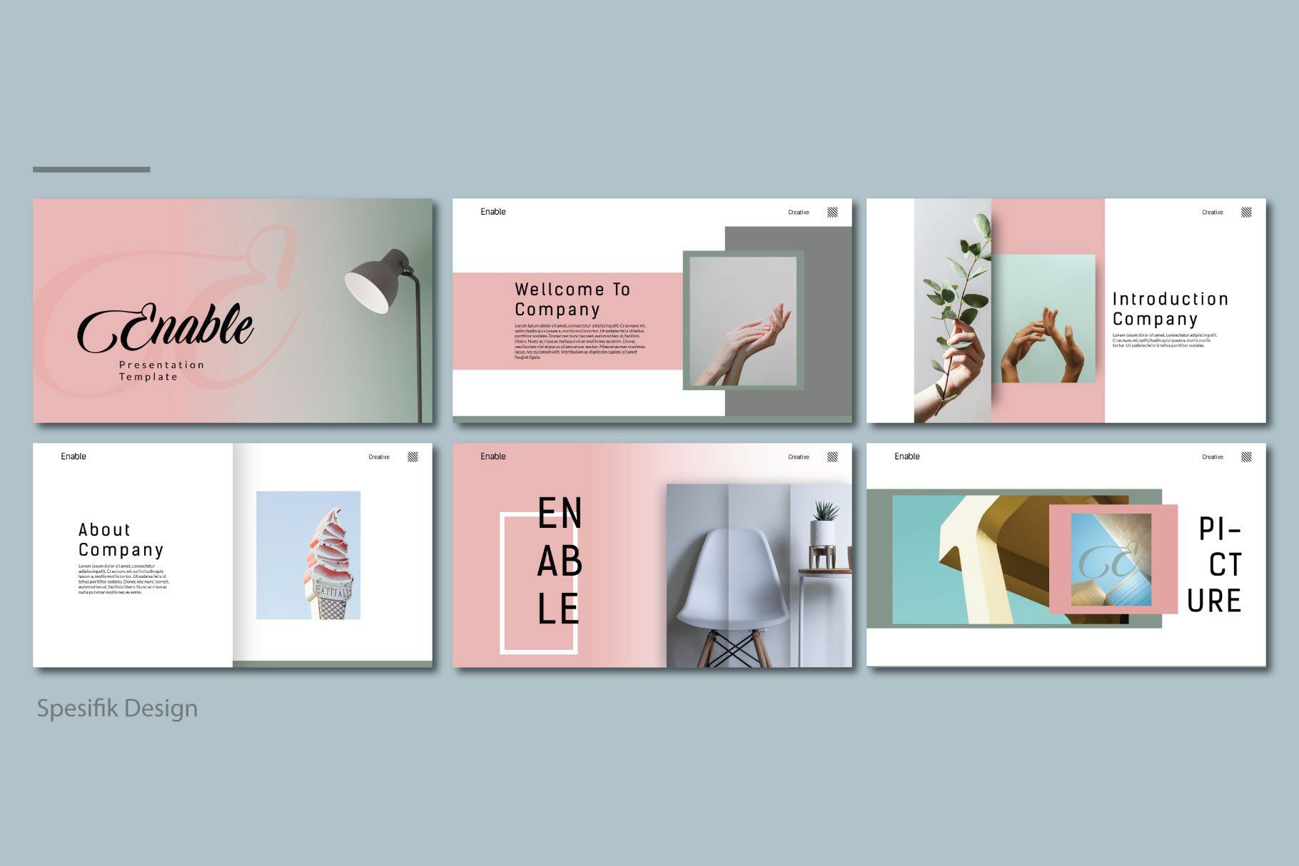 Enable Free Presentation Template Powerpoint Design