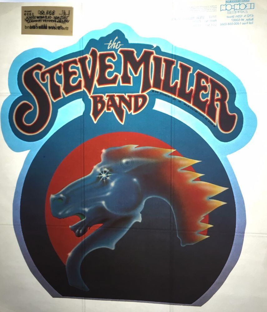 Vintage 70 39 s the steve miller band iron on t shirt heat for Heat press decals for t shirts