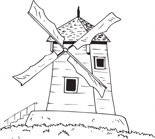 Coloriage Projet 4 éléments Le Moulin Coloriage Et Dijon