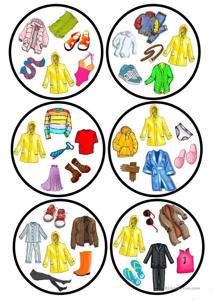 Clothes Dobble Game Jezyk Niemiecki Gry Planszowe I Przedszkole
