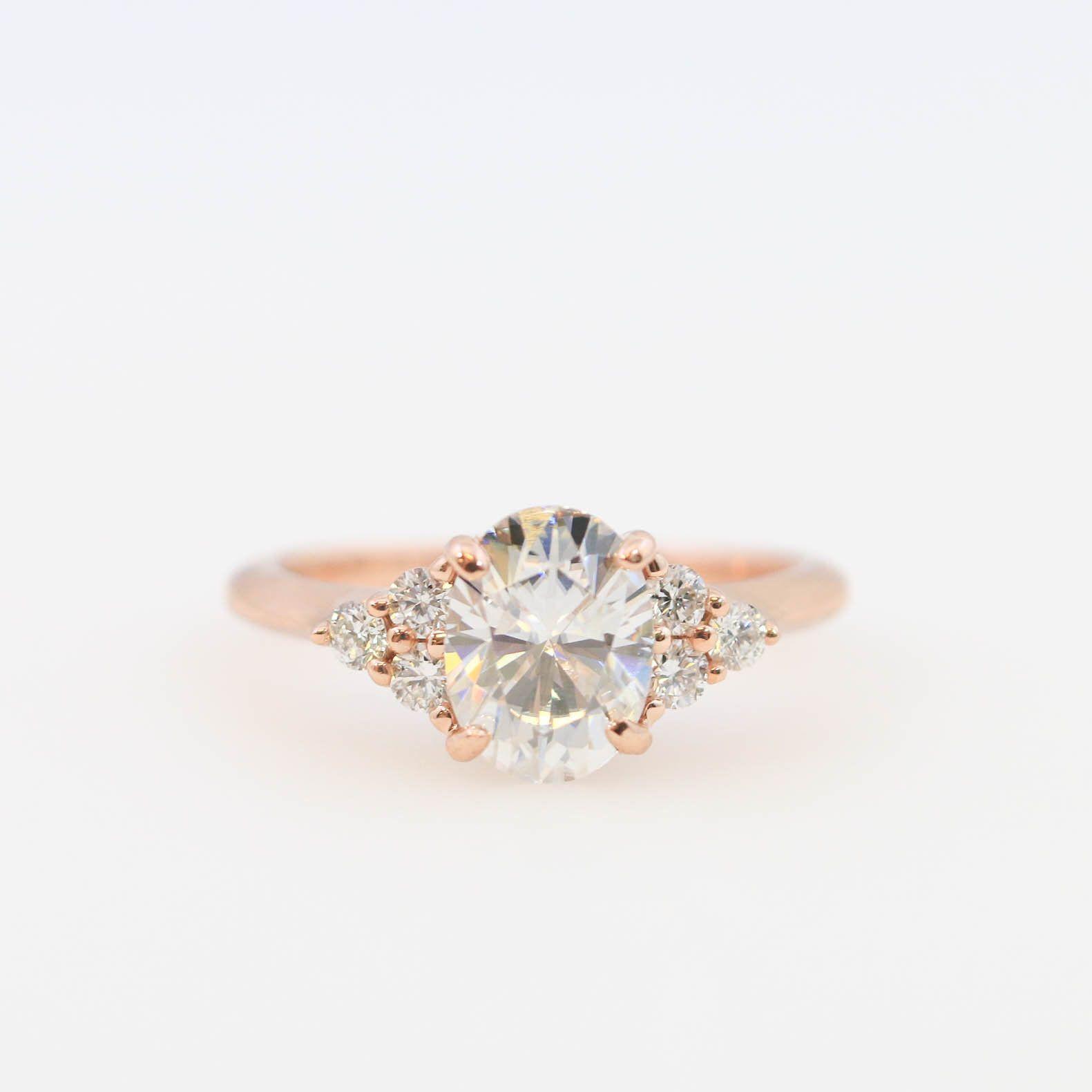 Moissanite engagement ring diamond engagement ring x oval