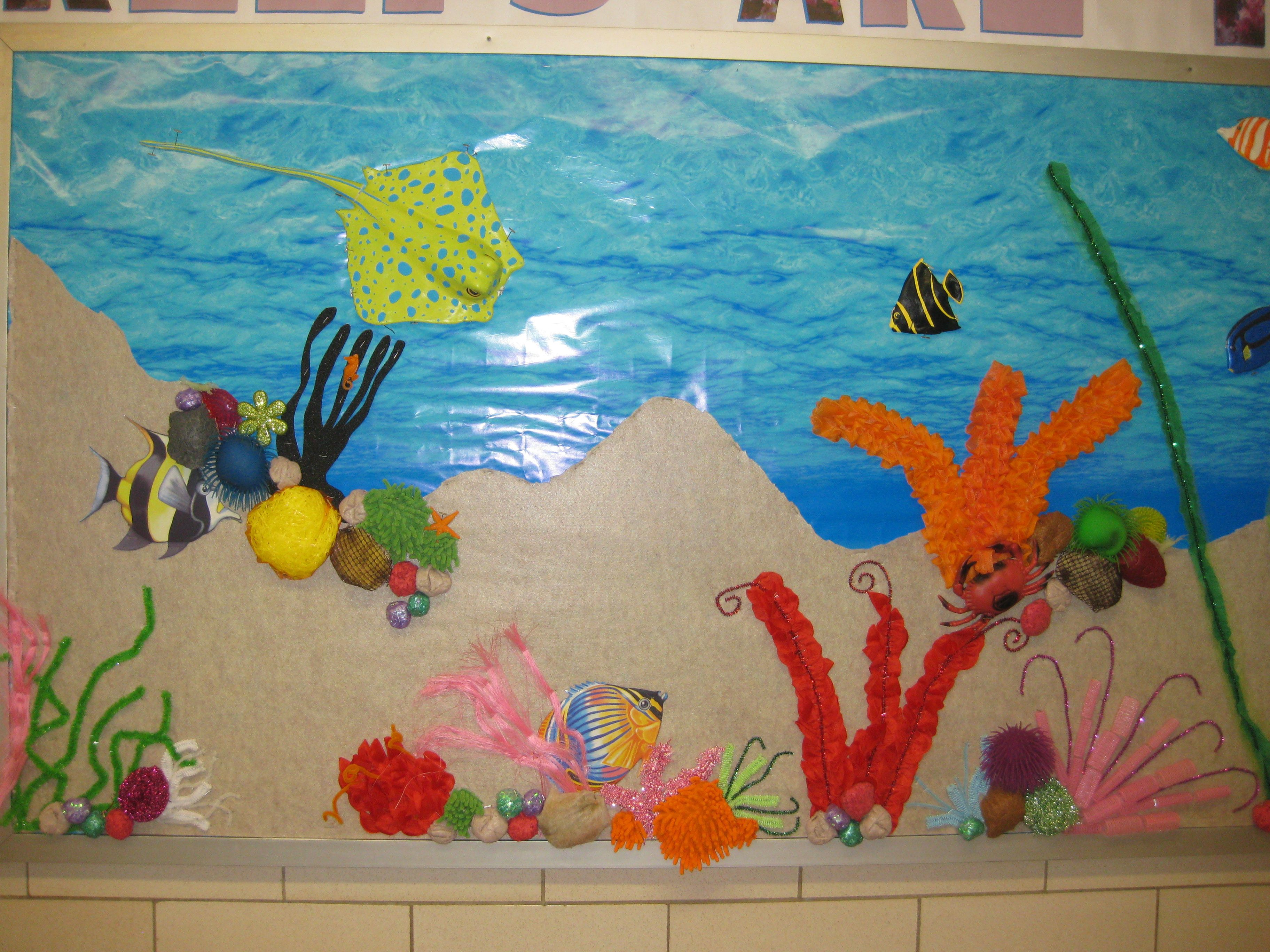 Coral Reef Bulletin Board Made Of 90 Dollar Store Hacks