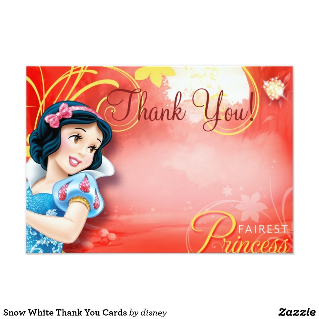 Snow White Thank You Cards | Disney birthday