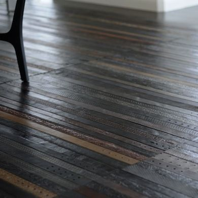 Bottle caps leather belts and pennies are just a few of the unusual flooring materials that creative do-it-yourselfers have decided to use to add beauty ... & Just Floored! 15 Totally Unexpected DIY Flooring Alternatives | In ...