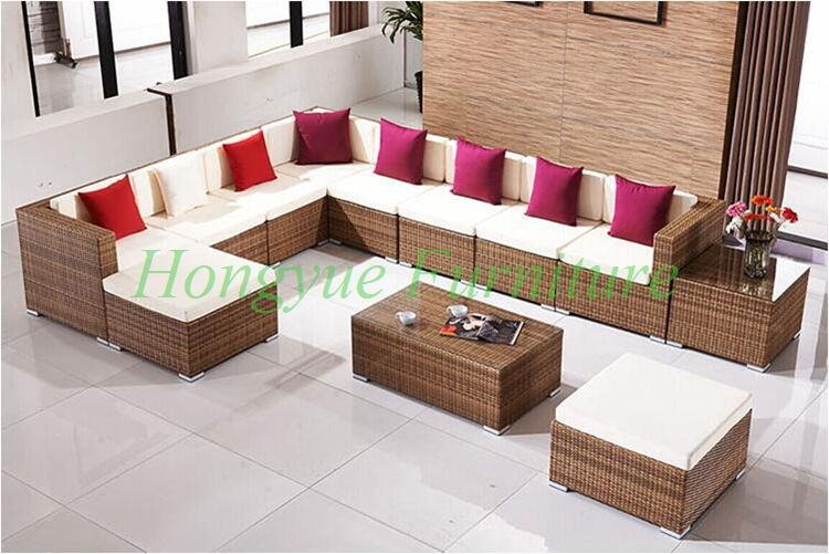 L Shape Garden Rattan Wicker Sofa Set Furniture With Cushion Pillows Sale Wicker Furniture Cushions Wicker Sofa Wicker Headboard