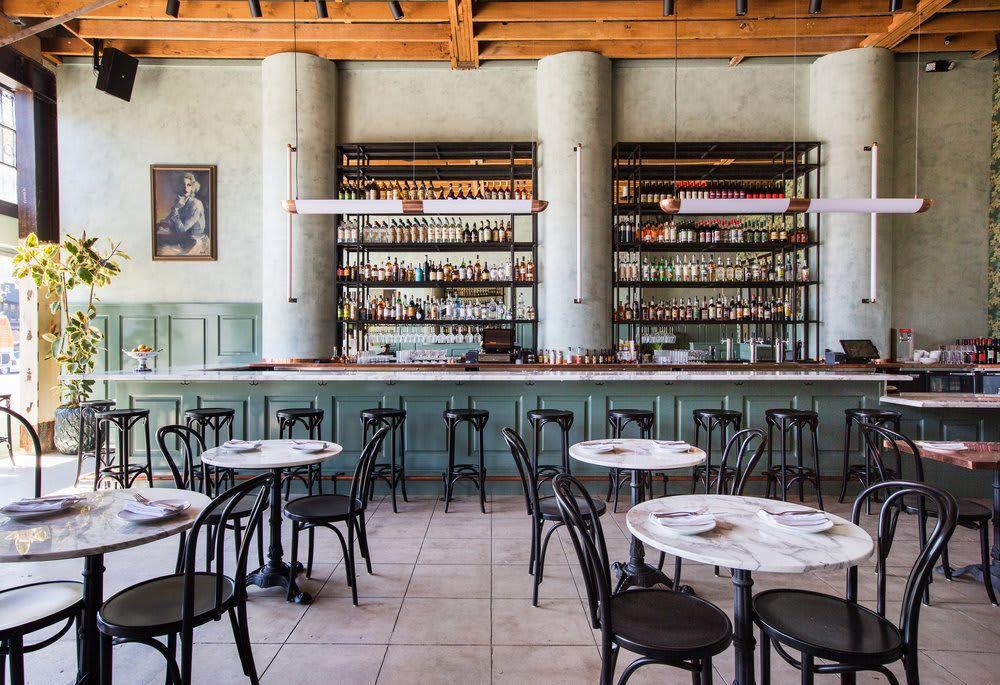 Lighting Copper Lighting At Cafe Birdie The Bistro Parisian Bistro Cafe