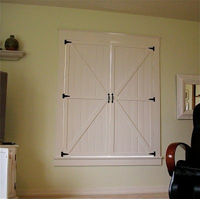 Barn Door Inspired Interior Window Shutters, Not Sure If Brian Would Go For  This