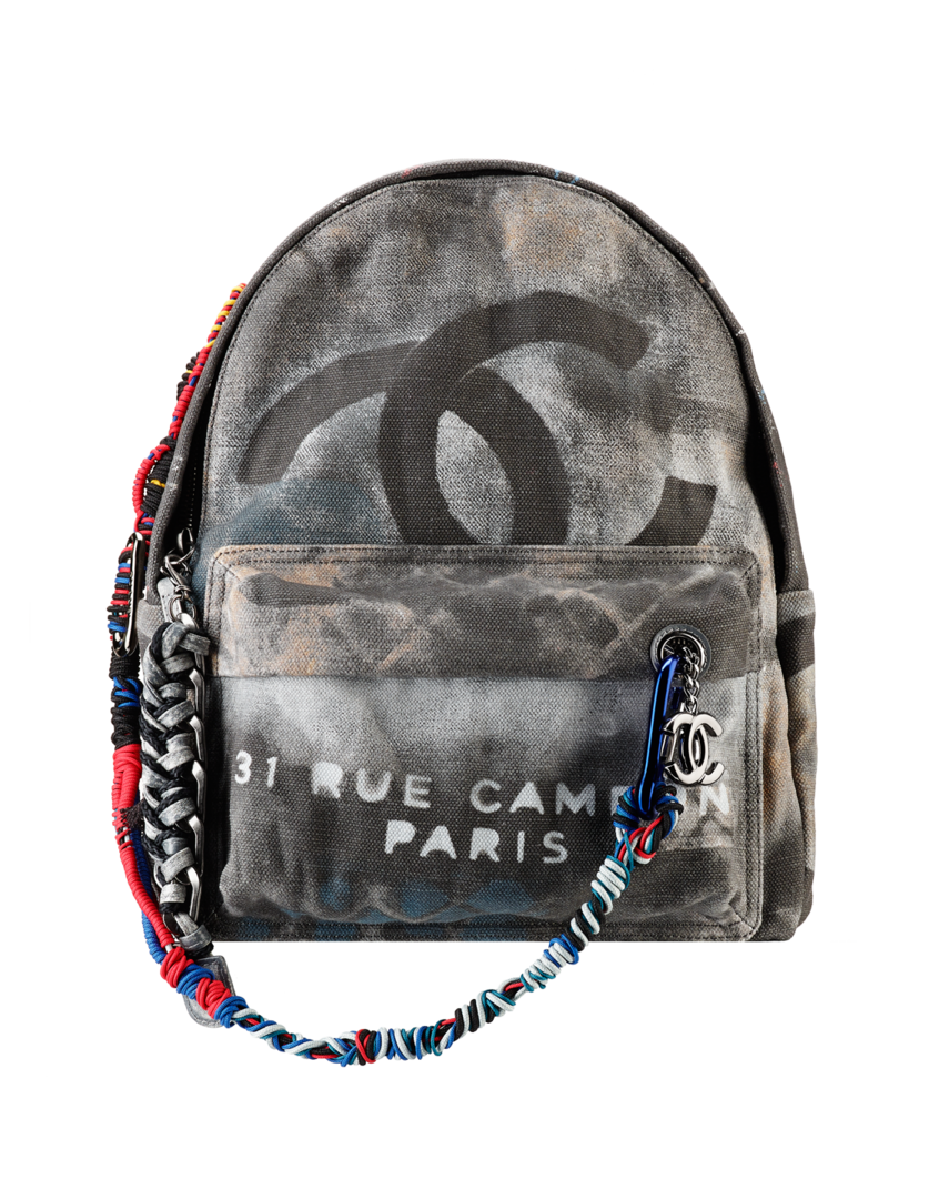 1ecbec055da11 Chanel Black Graffiti Backpack Bag - Spring Summer 2014 | ~ Designer ...