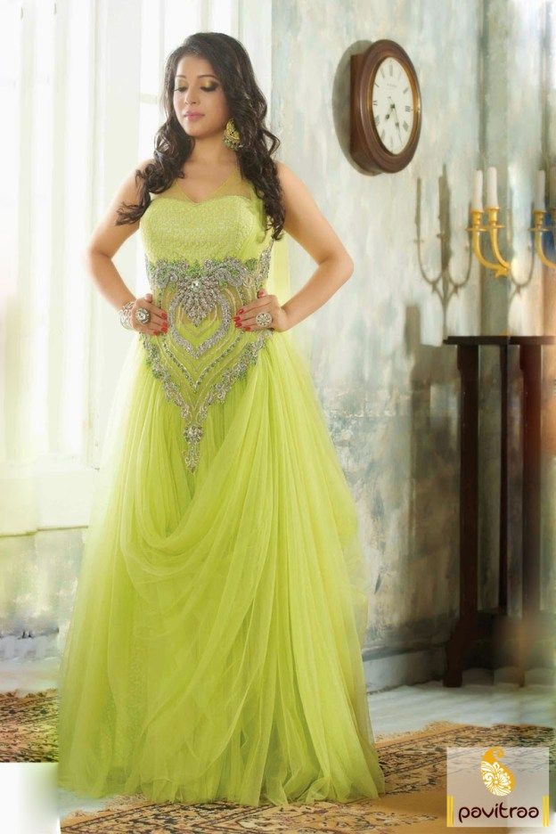 latest fancy gown, #lime design, #patch work, #party, #speci ...