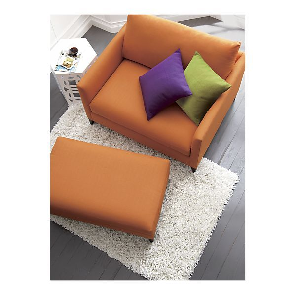 Klyne Chair And Ottoman   Crate And Barrel