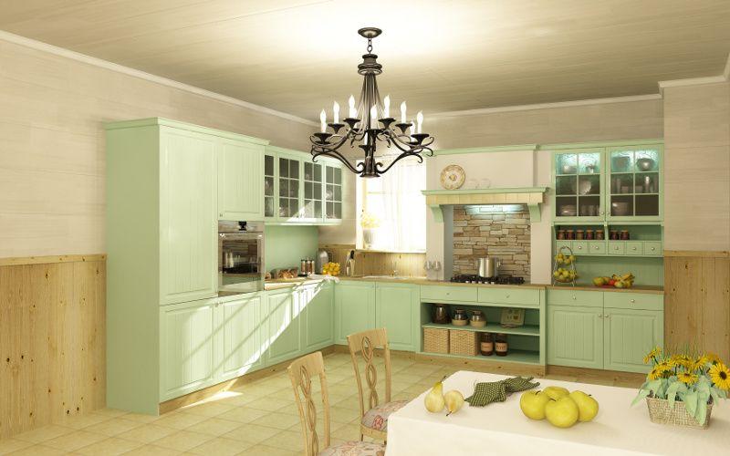 Отделка кухни вагонкой (39 фото) – сам себе мастер | Кухня ...