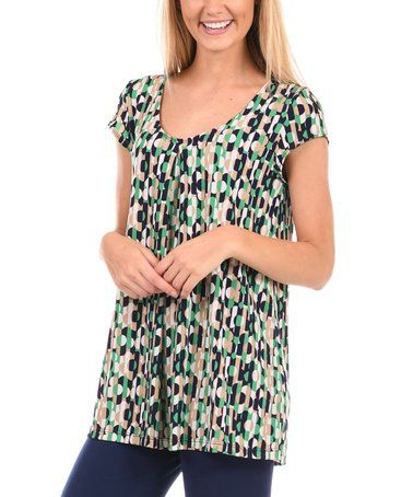 Love this Green Geometric Tee - Plus on #zulily! #zulilyfinds