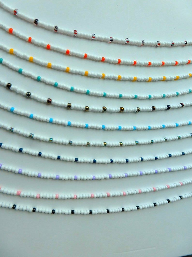 Photo of A Dash of Color Beaded Choker    Small Seed Bead Beaded Choker  Beaded Necklace  Dainty Choker Thin Choker   Small Beaded Choker