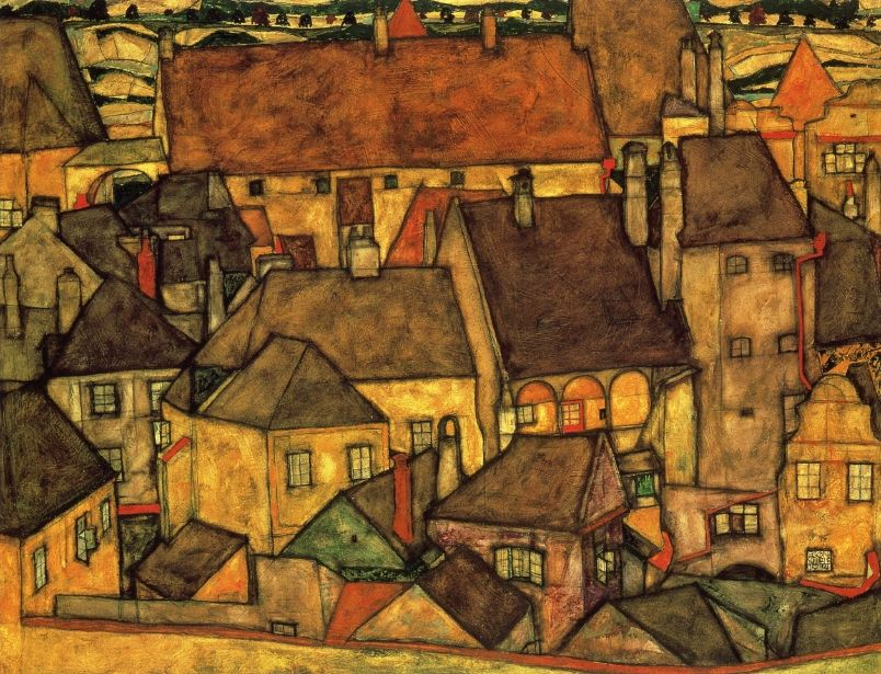 Egon Schiele, Yellow City, 1914