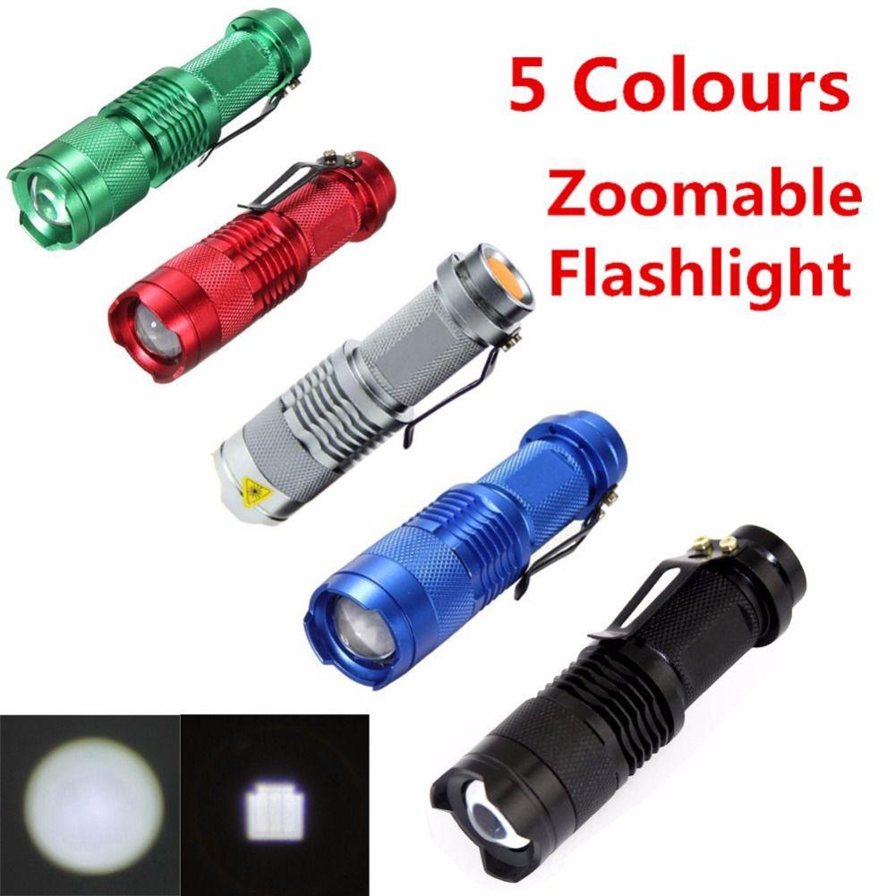Mini lampe de Poche ZOOMABLE 7 W CREE Q5 2000lm ZOOM Tactique AA 14500  batterie lampe de Poche Lampe Torche