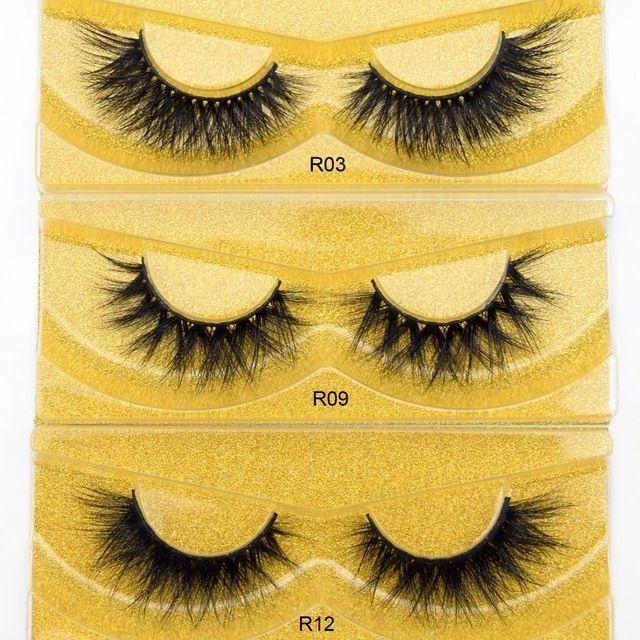 60913244e31 Visofree Eyelashes Mink Lashes 3D Ultra Fluffy Mink False Eyelashe Handmade  Reusable Cruelty free Eye Lashes