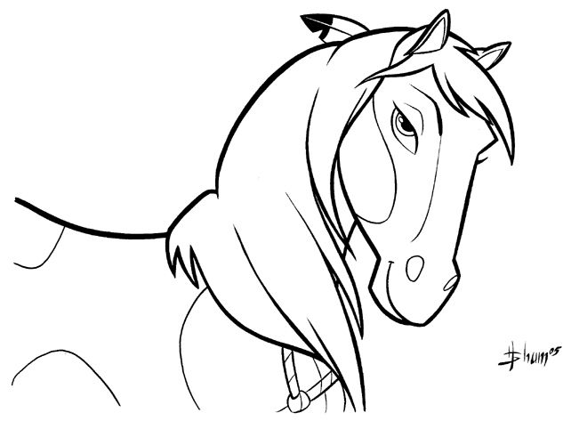 Spirit Horse Coloring Pages To Print Wild Horse Coloring Pa...