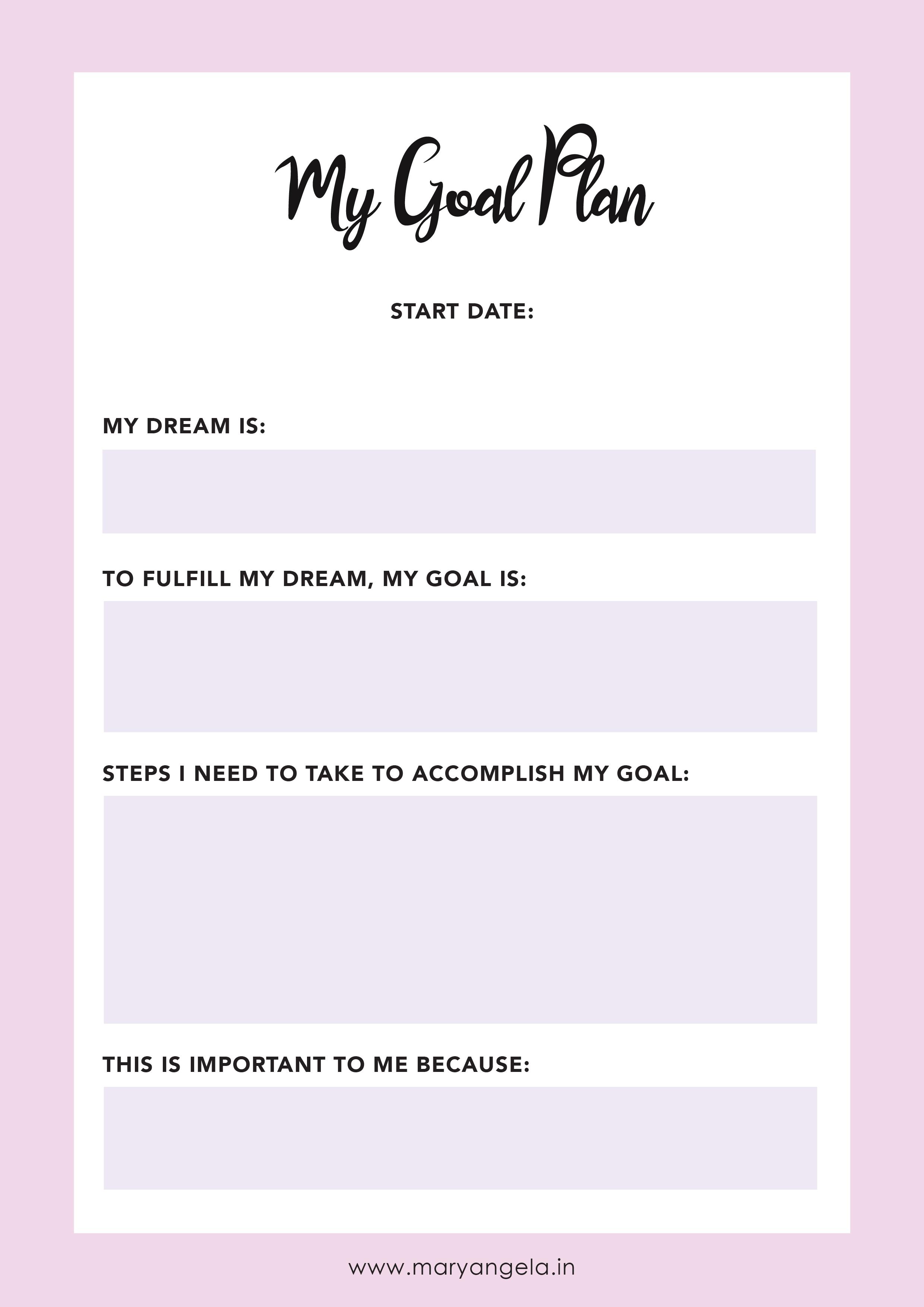 Free 2017 Goal Setting Worksheet Printable | Goal setting ...