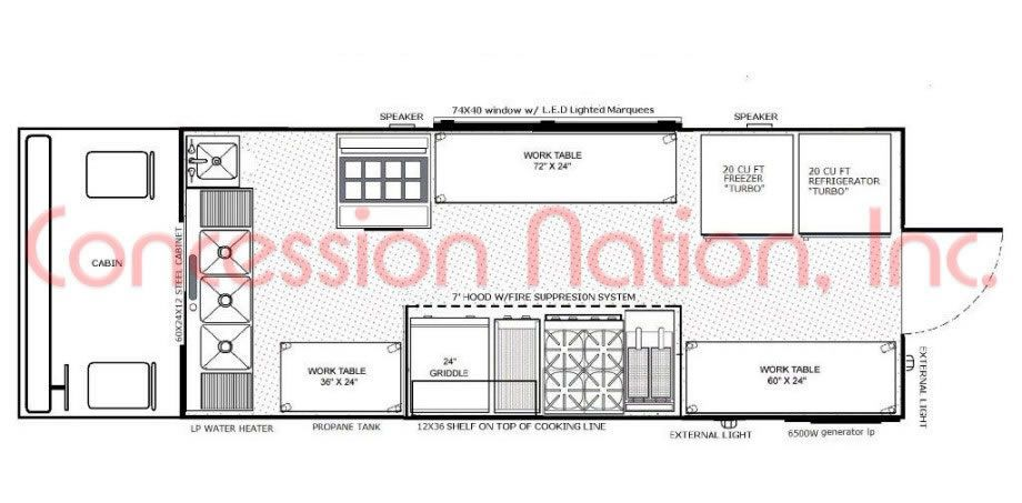 Floorplans Food Trucks Food Trailers Mobile Kitchen Food Truck Food Truck Design Floor Plans