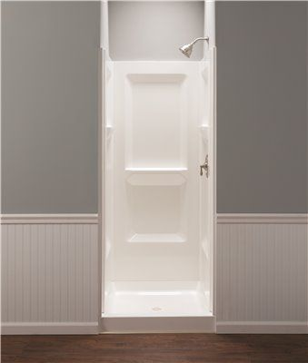 Durawall Fiberglass Shower Wall Kit 3 Pieces 3 Shelves White