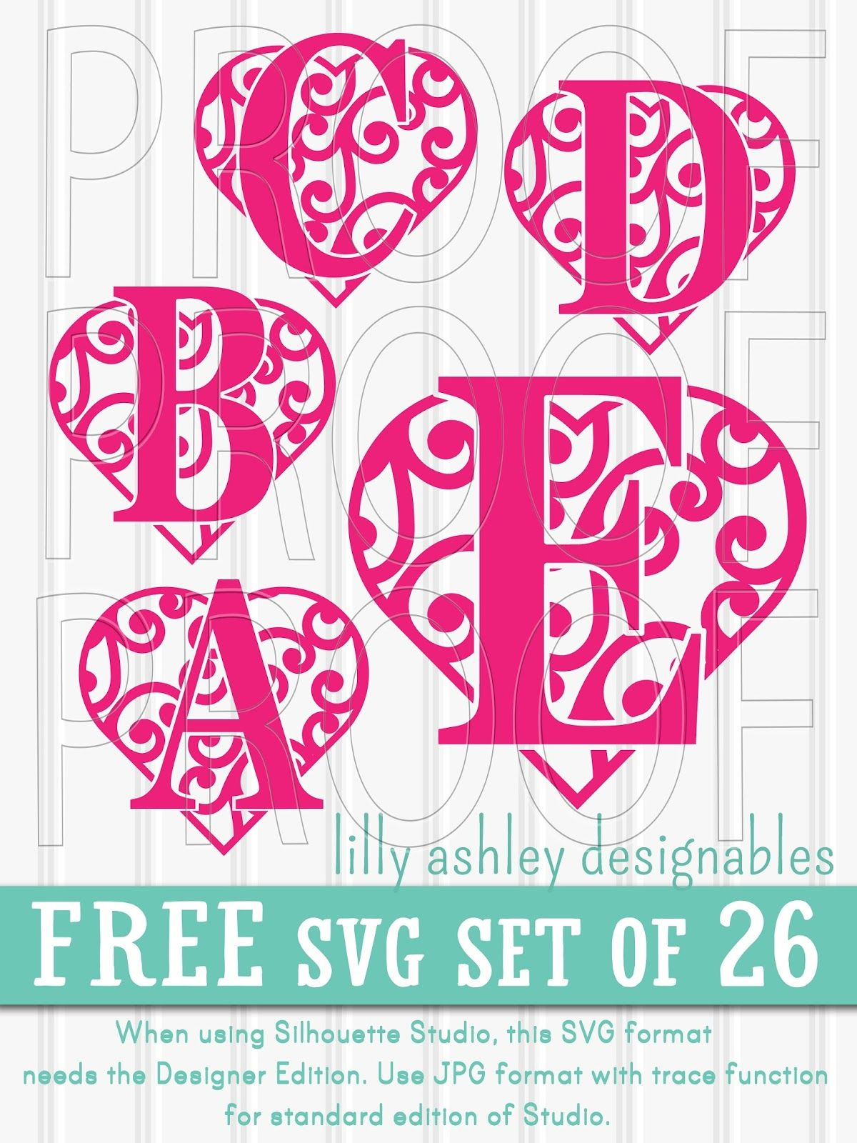 Free SVG File Set of Letters Lettering, Letter set
