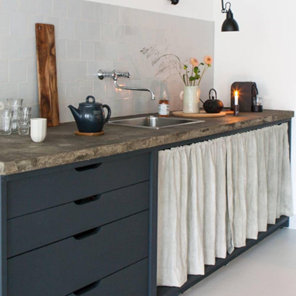 Pariez sur la d co r cup en cuisine elle d coration en - Porte rideau coulissant pour meuble ...