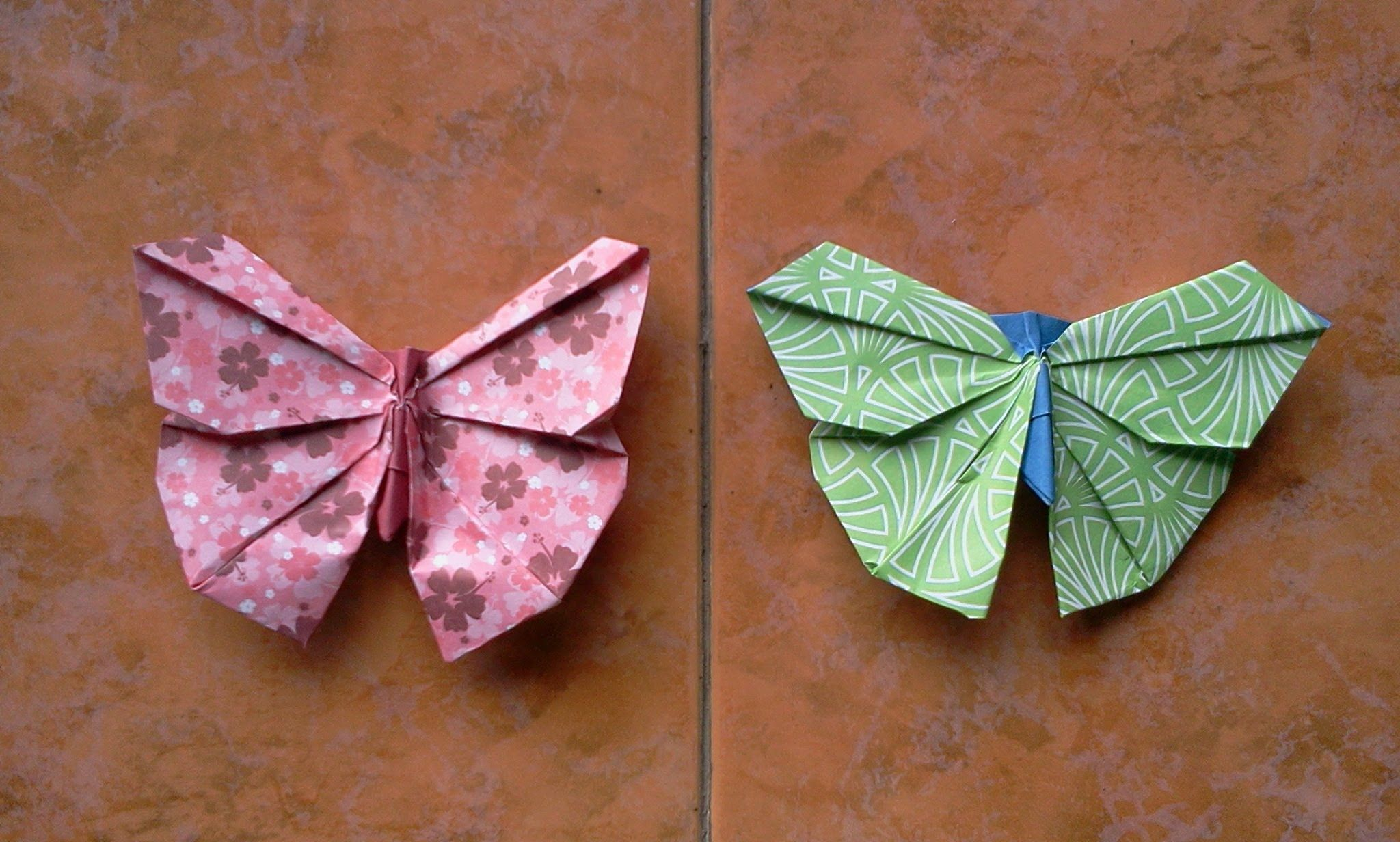 Origami Butterfly tutorial 023 // How to make Origami ... - photo#48