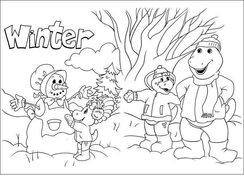 Pin de Coloring Fun en Barney & Friends   Pinterest