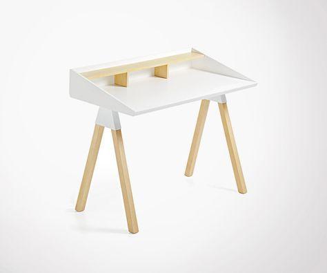 Petit bureau moderne bois loulou 120cm #bureau#moderne#design
