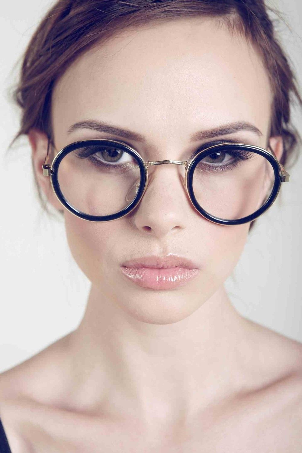 Deadstock Vintage Clear Fashion Glasses with Black Rims. $25.00, via Etsy.
