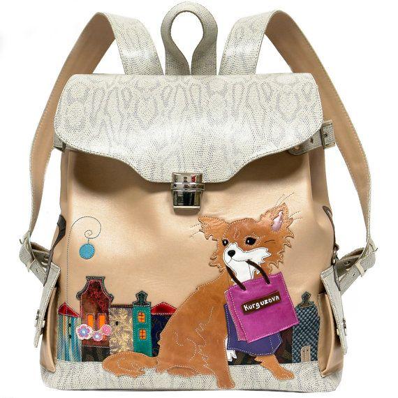 Backpack Chihuahua Langhaar Ot Kurguzova Na Etsy Ryukzak