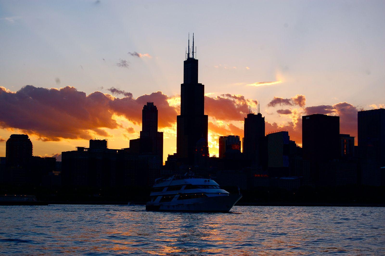 chicago skyline silhouette wallpaper   Elite Photography   Pinterest