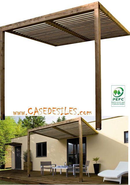 Auvent En Bois A Prix Reduit Auvent De Terrasse Bois Lames Ajourees Abt2525 Home Cottage Plan Front Porch Columns Pergola