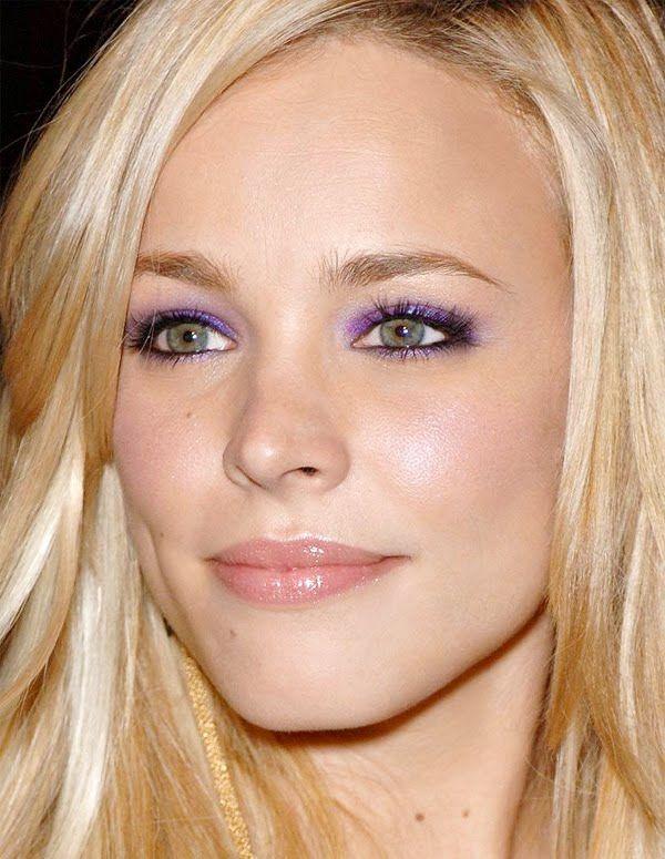 Shimmery Purple On Lid And Bottom Lash Line Black Eyeliner On