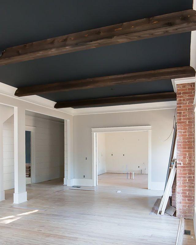 Basement Ceiling Idea Remove Drop Ceiling Paint Beams