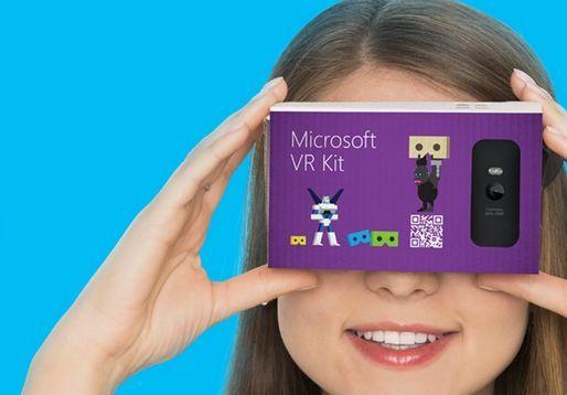 Microsoft criou uma caixa de realidade virtual ao estilo Cardboard VR da Google