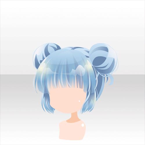 anime hair with buns ' artist