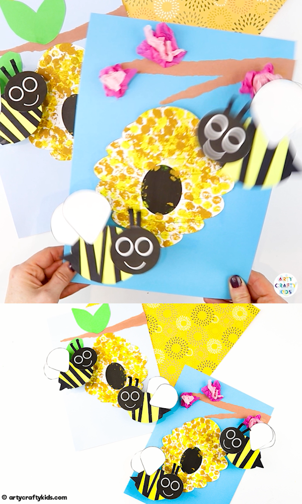 Bobble Bee Paper Craft | Spring Craft for Kids