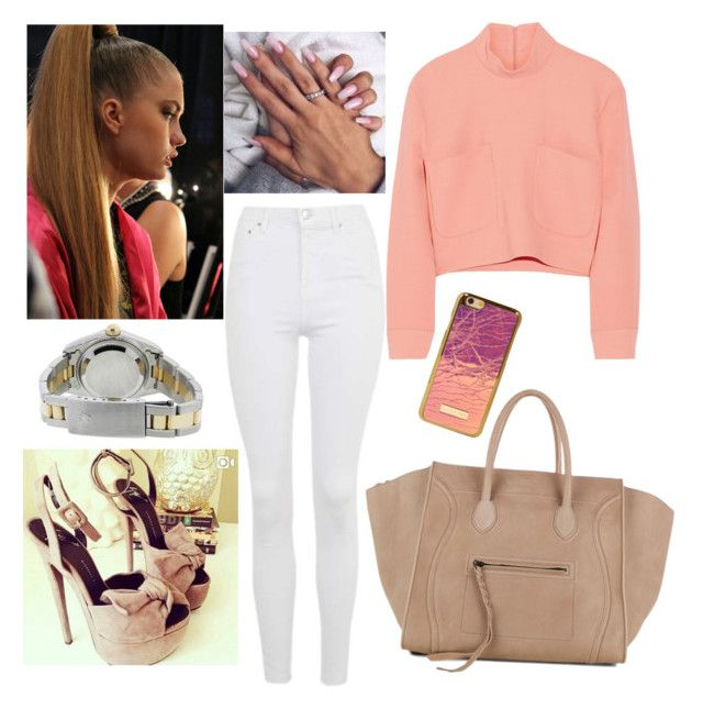 Untitled #2835 by outfitstowear on Polyvore featuring polyvore Issa Topshop CÉLINE Rolex fashion style clothing