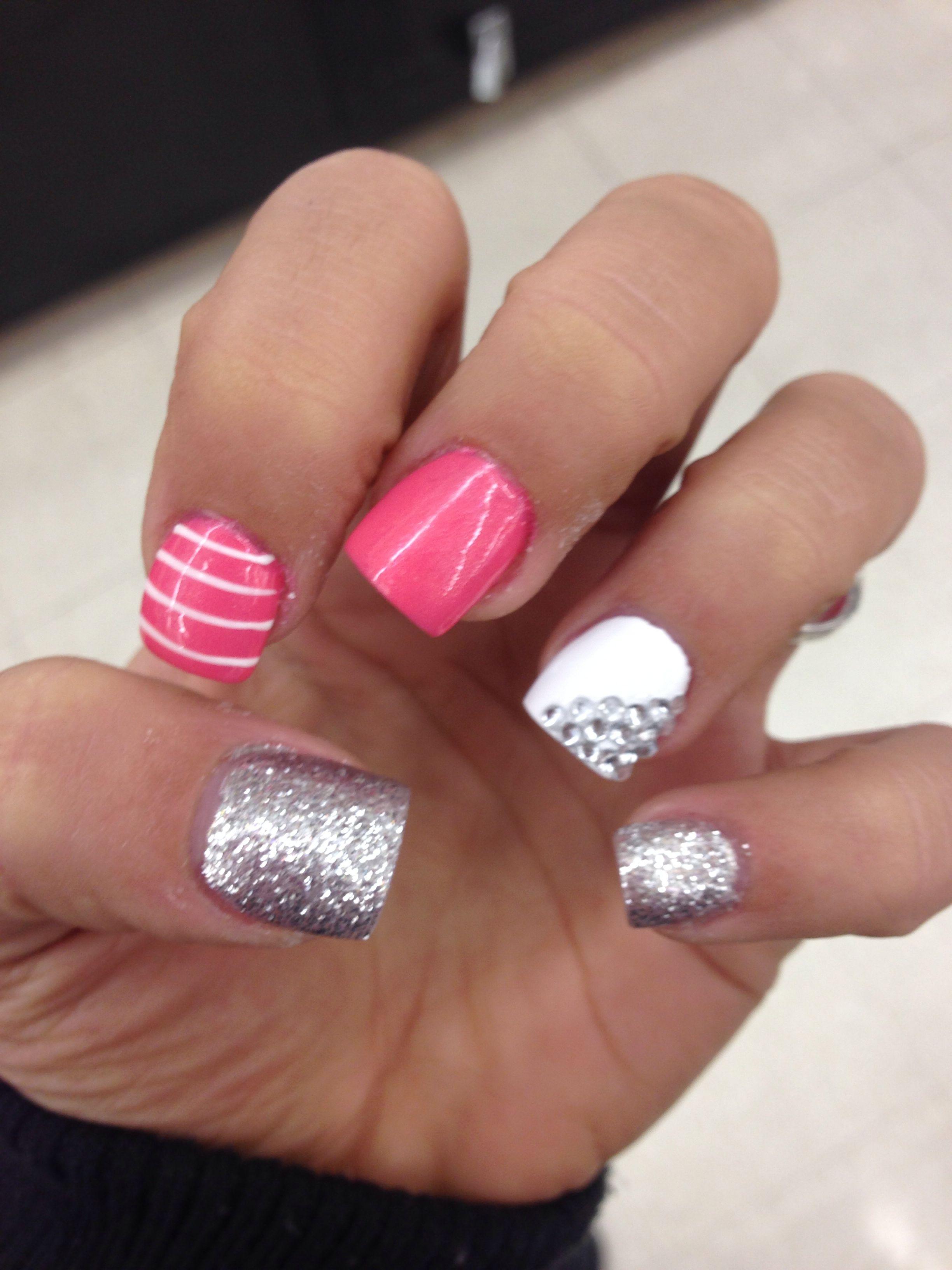 Formal nails nails pinterest formal nails pink and stripes