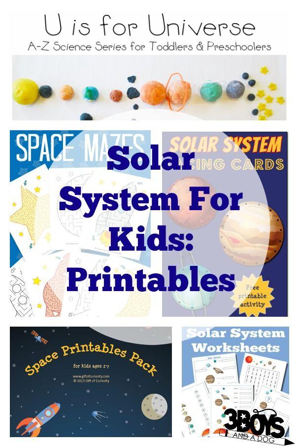 Solar System for Kids: Printables and Worksheets   Boys ...