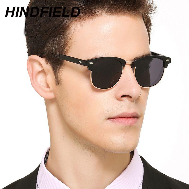 7391c464e86 Polarized Sunglasses Men Retro Rivet High Quality Brand Designer Sun  Glasses Mens Square Driving Eyewear Male Oculos UV400