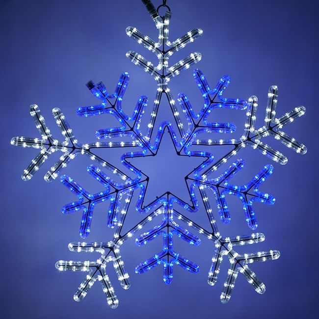 snowflake christmas light - Christmas Decorating With Lighted Snowflakes Cascade Christmas