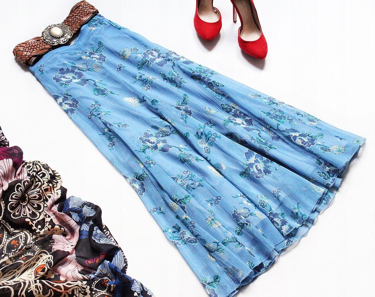 Lindex Blekitna Spodnica Szyfon Mgielka 48 50 52 7735452237 Oficjalne Archiwum Allegro Fashion Skirts Tie Dye