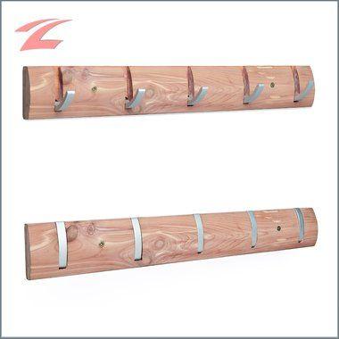 Loutoff 50cm Holz Hakenleiste Garderobenleiste aus Holz