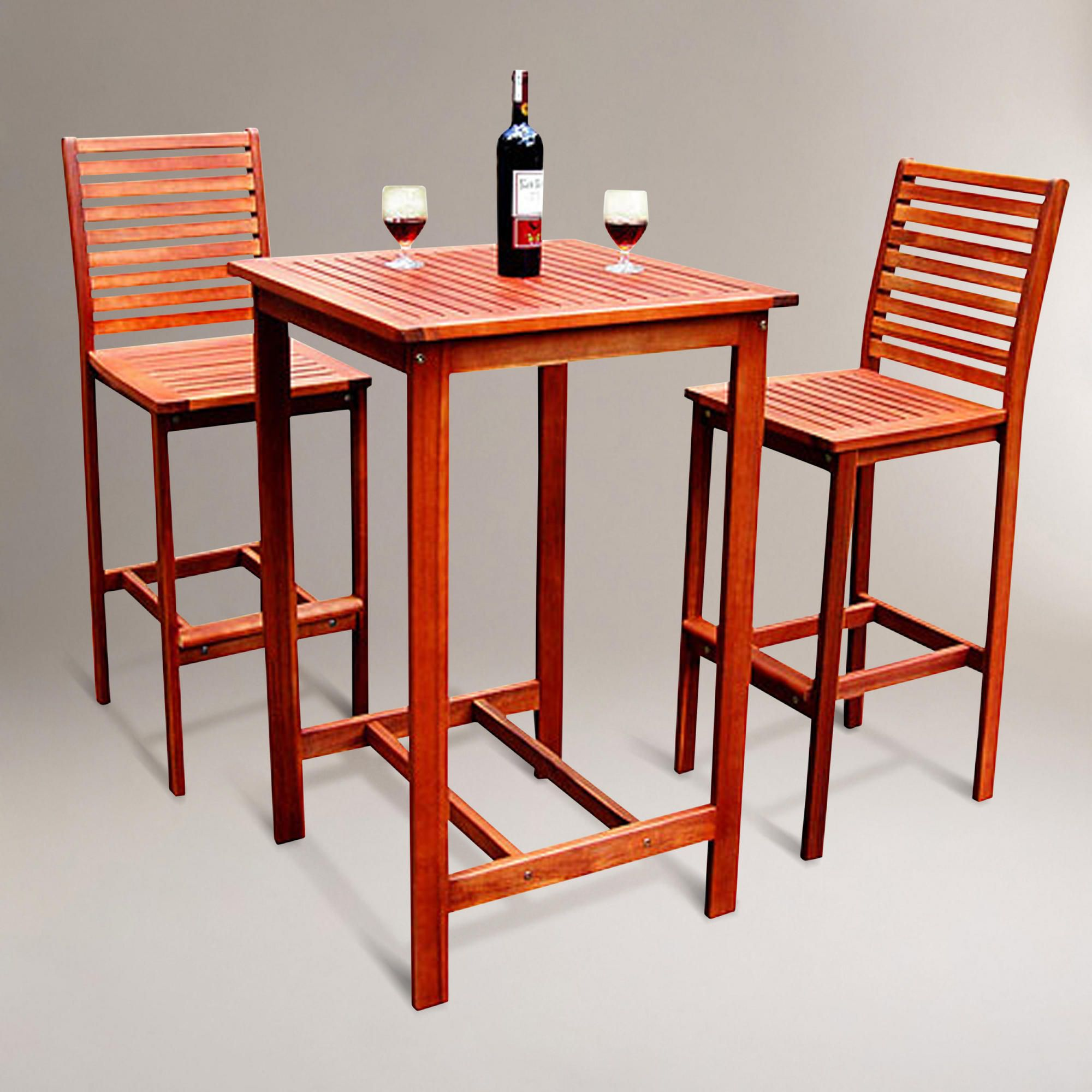 Inspirational 3 Piece Bar Set Outdoor