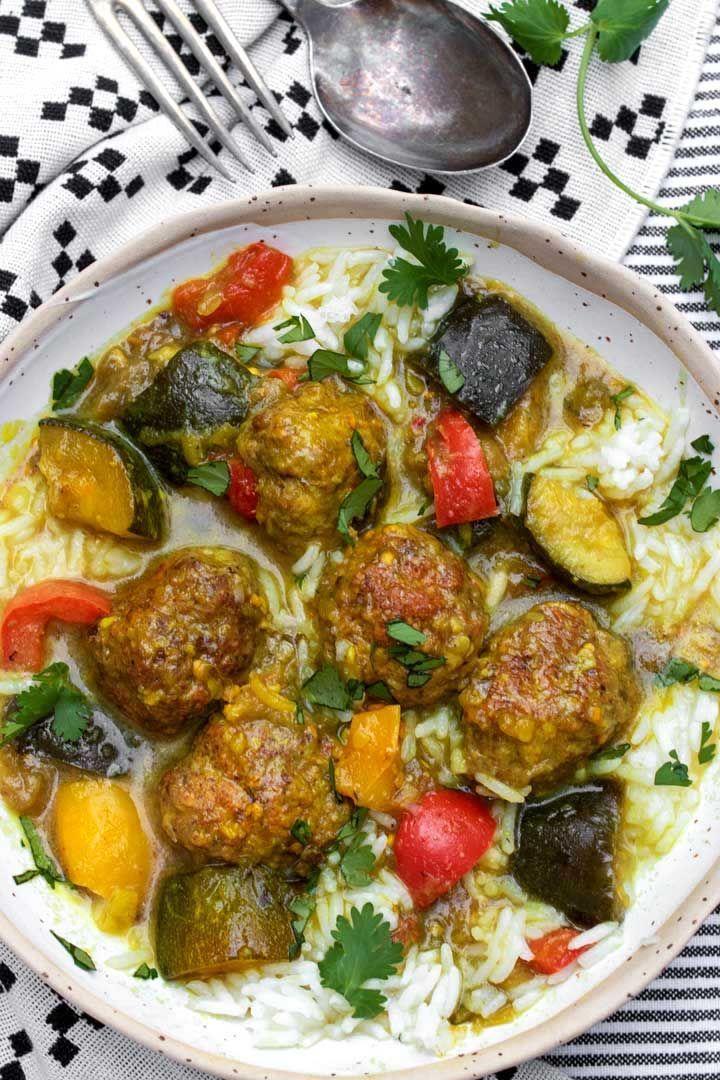 Boulettes de viande d'agneau aux épices indiennes avec ratatouille   – Ftdi Recipes